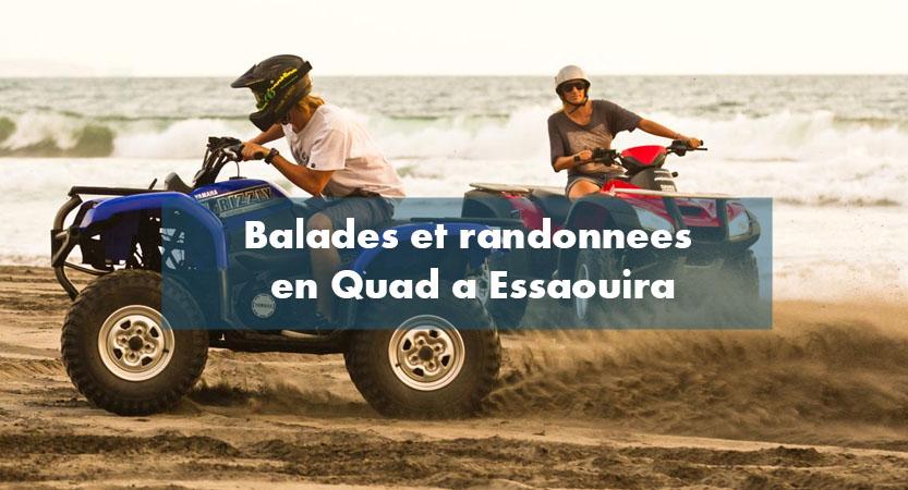 Balade randonnée quad plage Essaouira