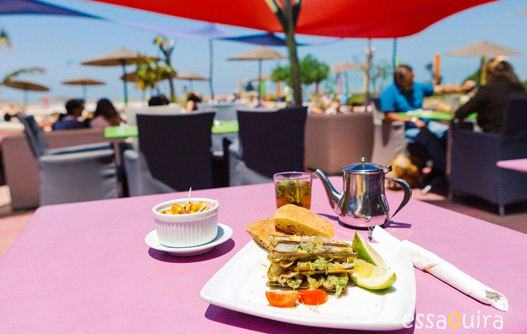 Restaurant vue plage Essaouira